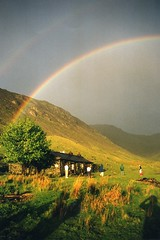 18/05/2000 Black Sail rainbow (petelovespurple) Tags: trees england people mountains nature grass weather lakes lakedistrict cumbria scree rainbows yha 1001nights ennerdale mountainhuts blacksail itswritteninthestars riccohkr10x ringexcellence dblringexcellence