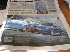 BMW April Fools Advert Metro London