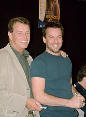John Noble & Craig Parker (meivocis) Tags: london john expo fringe lord rings craig parker noble haldir denethor fujis602z