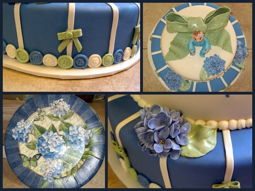 hydrangea babyshower collage