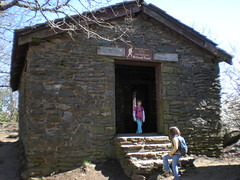 9 - Sophie and Iz at Blood Mountain Shelter