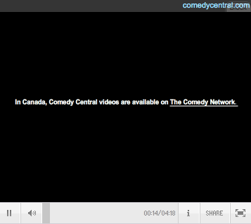 No Comedy Central for you!
