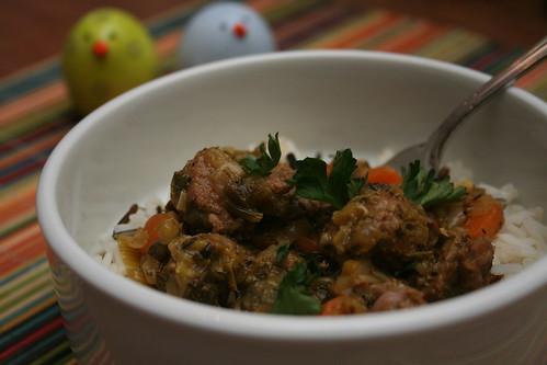 lamb leek stew