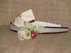 Diadema nia. Mod. 701 (manalopa) Tags: handmade flor nia cabeza diadema pelo cabello arras crudo comunin damita granate paje hechoamano manualidad