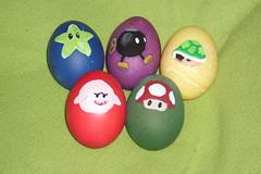 Easter Eggs (kuzco_cat) Tags: food green mushroom speed easter star power egg nintendo mario boo eggs kart ostern ei eier turtleshell bobomb