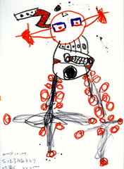 20081024-zozo畫有很多輪子瘩怪獸