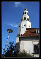 Gryfow Slaski (Marutina) Tags: city tower clock architecture canon cityhall poland canonefs1855 canon400d gryfwlski gryfowslaski