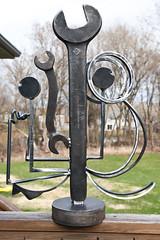 From the front (Jeff Van de Walker) Tags: sculpture art statue iron steel tools wrench welded jeffvandewalker