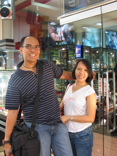 shopping for gifts at a watch store in Denpasar