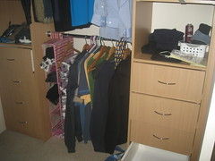 Wardrobe before