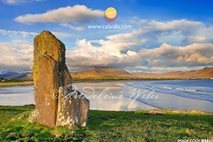 standing stones at Ballinskelligs/Waterville Beach, County Kerry, Ireland :: megaliths, ancient, irish, celtic, druids, ritual, historical, history, mysteries, mystical, menhir, alignments, spirit, ancient (* Madeleine Calaido Weber * - calaido.com) Tags: ireland heritage history beach megalithic monument rock stone architecture ancient standingstones rocks spirit earth stones large culture row single merlin waterville historical celtic druid tradition upright parallel tombs megaliths neolithic megalith construct druids earthworks ringofkerry menhir mesolithic prehistorical iveraghpeninsula ballinskelligs alignements ritualactivity monolithictype