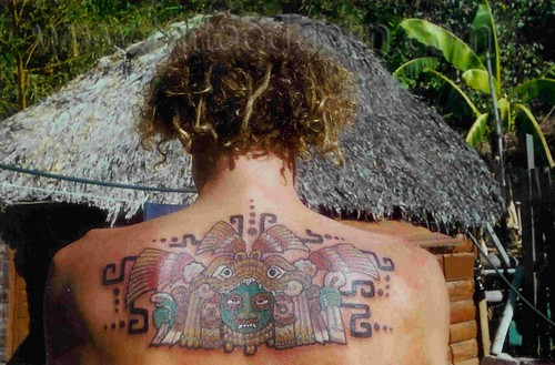 mexican mayan back tattoo Mayan style tattoo