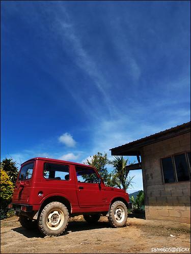 Suzuki Jimny SJ410 - kereta merah ayah