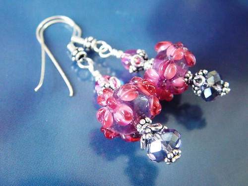 #GBER131 = LIFE IS BEAUTIFUL  Lampwork Earrings SGD$35