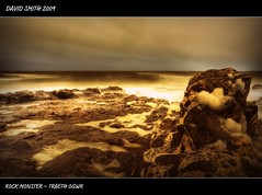 ROCK MONSTER ~ TRAETH OGWR (Wiffsmiff23) Tags: storm monster rock skies foam suds ogmore ogwr manfrotto hoya