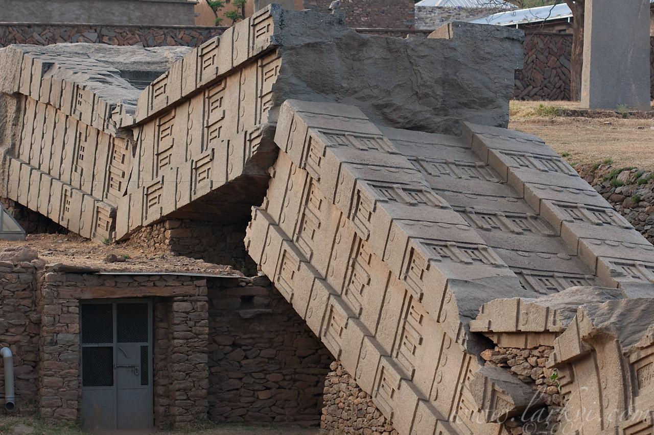 Stela 1, the 'Great Stela,' Axum, Tigray, Ethiopia, April 2009