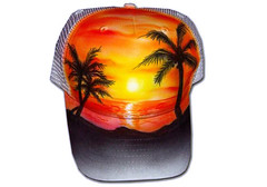 Airbrush Cap Sunset (cokyone) Tags: portrait hat graffiti stencil comic mesh painted caps cartoon cap spongebob pilze truckercap tupac airbrush mtzen scarface fusball unikat derpate