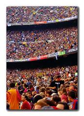 una gran festa blau-grana que va quedar aplaada fins la setmana que be !!!! (skaboy) Tags: camp pentax sigma catalonia catalunya futbol bara fcbarcelona gent nou villareal lliga estadi 95000 pffffffffff skaboy moltagent gerrodaiguafreda