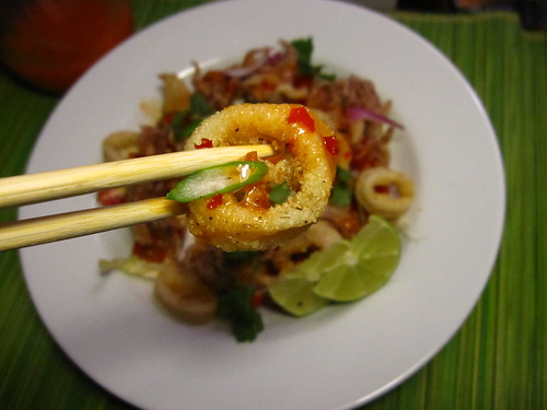 Thai Crispy Calamari Salad
