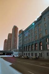 Toronto (Sepia) (Luismaxx) Tags: city urban toronto canada sepia buildings nikon flare architcture d90