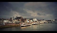 Maastricht, Spring '09 (edmundlwk) Tags: bridge blur holland water netherlands canon river maastricht boat bokeh efs f28 1755 tiltshift 450d rebelxsi edmundlim
