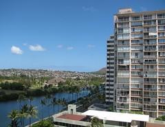 Der Blick von unserem Balkon (ogressie) Tags: hawaii oahu waikikibeach