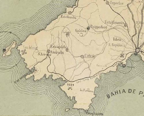 mapa de Mallorca de Umbert
