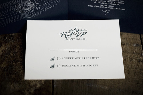 cole-gibadlo wedding invitations - response card