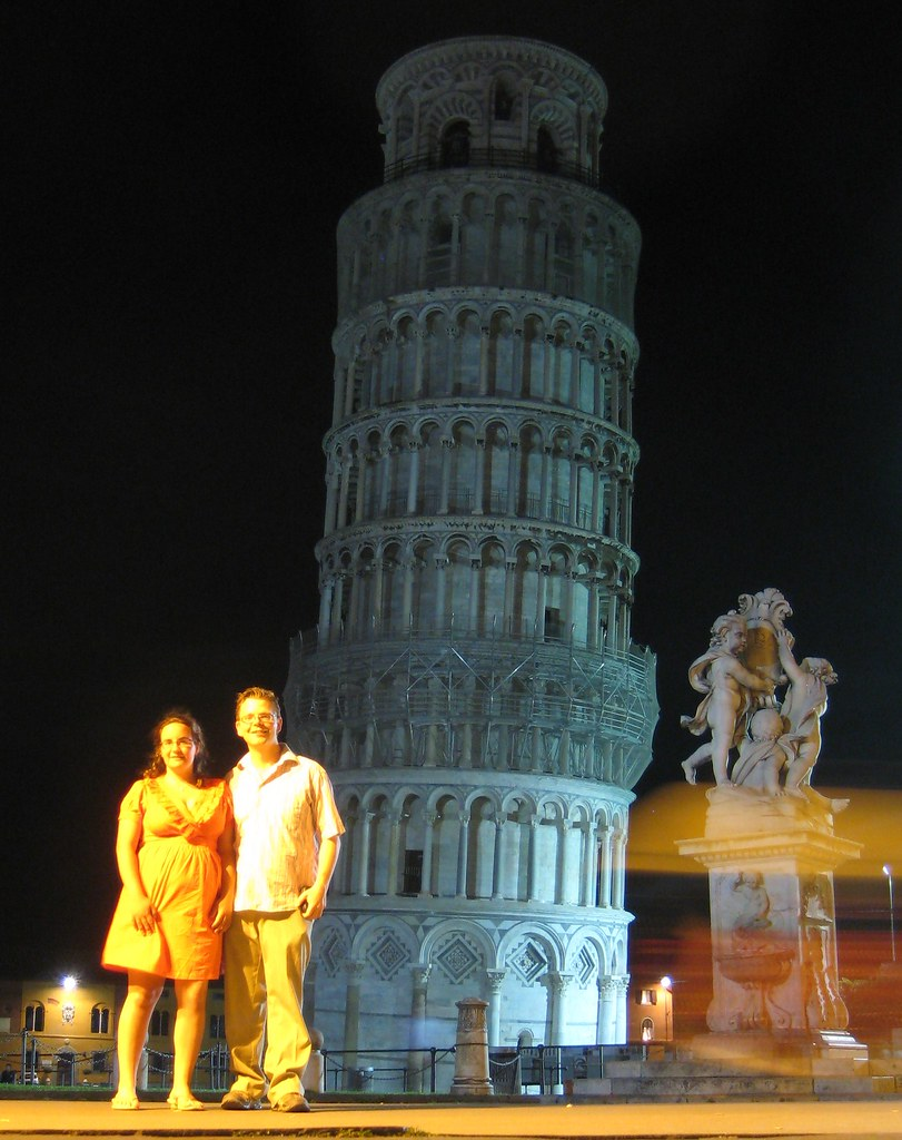 Us in front of the tower