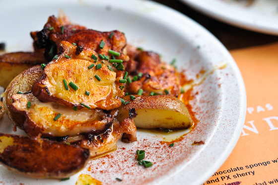 Tapas Brindisa: Octopus, potatoes
