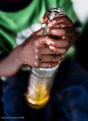 Sweet Fanta (Nana Kofi Acquah) Tags: food black bottle hands child bokeh fingers cocktail ghana 5d luch fanta 35l africanafrica ef35mmf14lcanon waakye