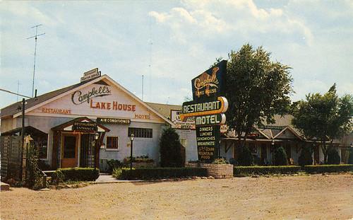 Campbell's Lake House Restaurant & Motel Postcard