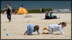 Lyme Regis - Kinder im Sand