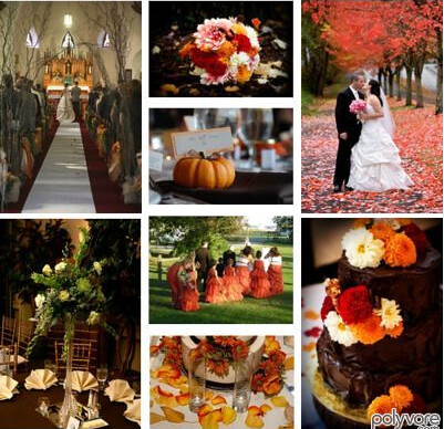 If you are planning an autumn wedding your color skeme will be easy to come