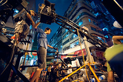 One Night in Mongkok (TGKW) Tags: street camera portrait sky people man building film set hongkong video candid crew mongkok spacedout 0845 maxijib geddaheadz