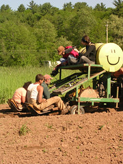 Atop the water wheel transplanter (rogersshelley) Tags: whats about organic