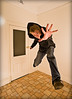 44[52] - It's back! (jæms) Tags: selfportrait me kitchen jump explore float 52 remoteflash remoteshutter strobist