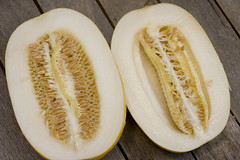 Korean melon halves