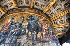 Mosaic at the Victory Column (Berlin/Germany) (Werner Kunz) Tags: world trip travel vacation panorama holiday berlin green photoshop germany deutschland globe europa europe european euro mosaic urlaub eu wideangle brandenburggate memorialchurch brandenburgertor dri gruen hdr tiergarten hdri werner siegessaeule reise stich gedaechtniskirche welt strassedes17juni kaiserwilhelm victorycolumn postdamerplatz kunz germnay photomatix 20fav grosserstern explored colorefex bismarckmemorial schlossbelvue nikond90 topazadjust werkunz1 presidialamt 2deutschesreich
