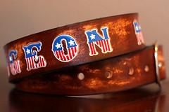 289 (amina.munster) Tags: leather belt painted accessories buckle personalized beltbuckle leatherbelt kyodtcom customleatherbelt
