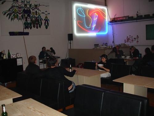 Hafenküche bei Hafen2 Kochen und Kunst in Offenbach. Februar 2006