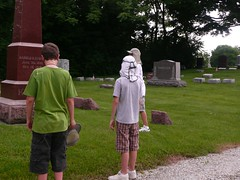 Hats off to the cemetery (Palatine Public Library District) Tags: libraries photosafari scavengerhunt summerreadingprogram palatinepubliclibrary readonthewildside digitalcamerascavengerhunt savagenocturnalmonkeysquirrels