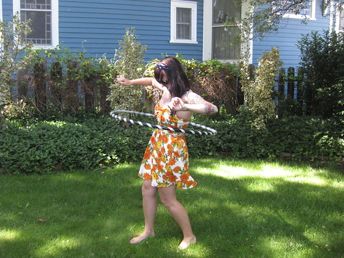 hula hooping - so fun