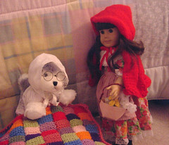 Little red riding hood 1 (mimiville) Tags: doll littleredridinghood americangirl