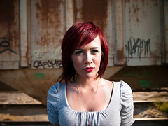 Carroll (awallphoto) Tags: red arizona portrait train hair asian 28mm az olympus nd f2 e3 zuiko bwfilter zd 14mm fourthirds awall aaronwallace bwnd