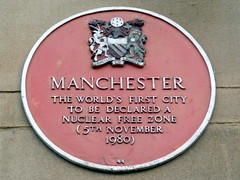 Photo of Manchester red plaque