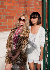 Glamourous Girls (Jigsawn) Tags: girls friends red summer portrait people woman brick london girl beautiful sunshine sunglasses wall thirties spring cool emily model glamour pretty looking close bright gorgeous models chinese young relaxing posing sunny kitsch shades chilling jacket together blonde attractive shorthair casual lipstick earlytwenties oriental striking modelling leaning blackhair glamor hangingout 30s stylish 20s redbrick leopardskin glamorous fashionable centrallondon 2025 twenties glamourous 2011 early20s early30s