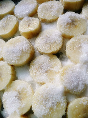 platanos con azúcar