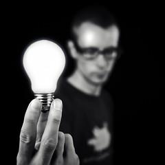 lightbulb (thomasloevring.dk) Tags: selfportrait lightbulb studio nikon d300s
