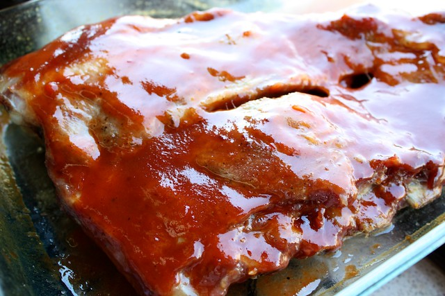Costillas de cerdo marinadas